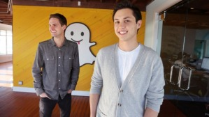 Snapchat co-founders Evan Spiegel and Bobby Murphy. Photo: MCT